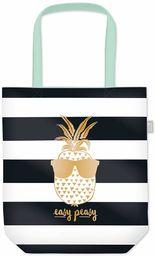 Grafik Werkstatt torba na zakupy z zabawnym napisem, składana torba na zakupy, Ananas (czarny) - 62015