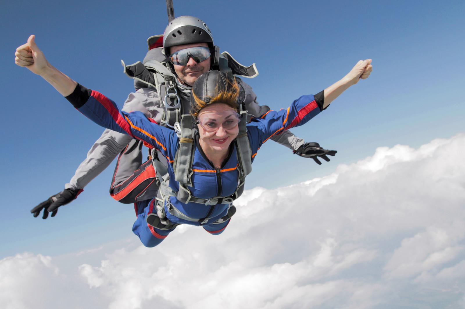 Skok ze spadochronem  Zamość