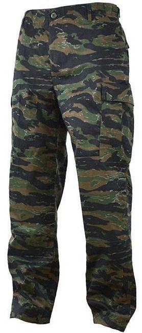 Spodnie wojskowe Mil-Tec wzmacniane BDU Tiger Stripe (11805034)