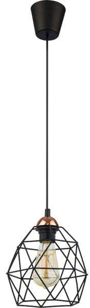Nowoczesna lampa wisząca GALAXY 1638 czarny/miedziany