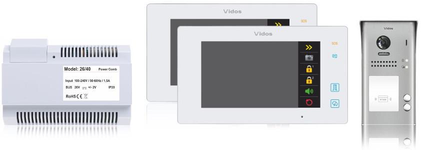 Wideodomofon 2-rodzinny vidos duo 2 x m1021w / s1102a - możliwość montażu - zadzwoń: 34 333 57 04 - 37 sklepów w całej polsce