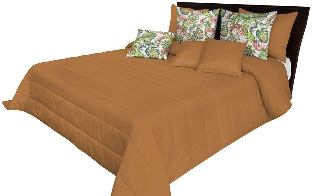 Narzuta pikowana na łóżko karmelowa NMN-001 Mariall