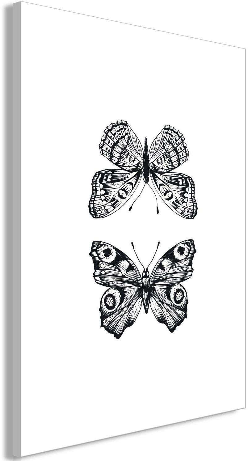 Obraz - dwa motyle (1-częściowy) pionowy