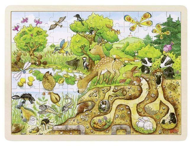 Natura - gdzie żyją zwierzęta, puzzle, goki
