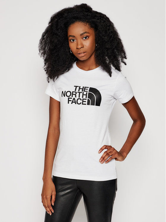 The North Face T-Shirt Easy Tee NF0A4T1QFN41 Biały Slim Fit