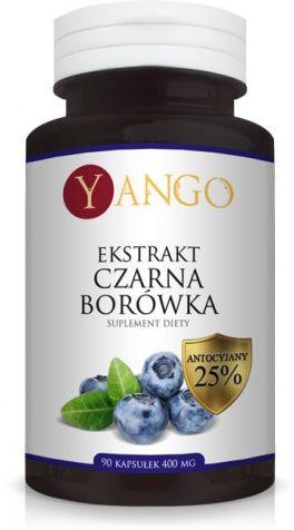 Czarna Borówka ekstrakt 90 kaps YANGO