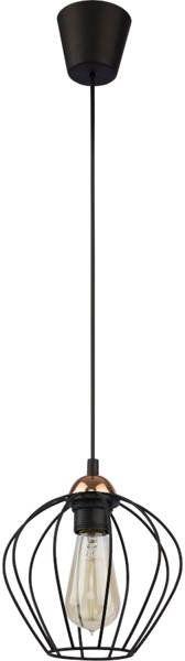 Nowoczesna lampa wisząca GALAXY 1640 czarny/miedziany