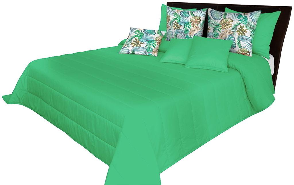 Narzuta pikowana na łóżko zielona NMN-003 Mariall