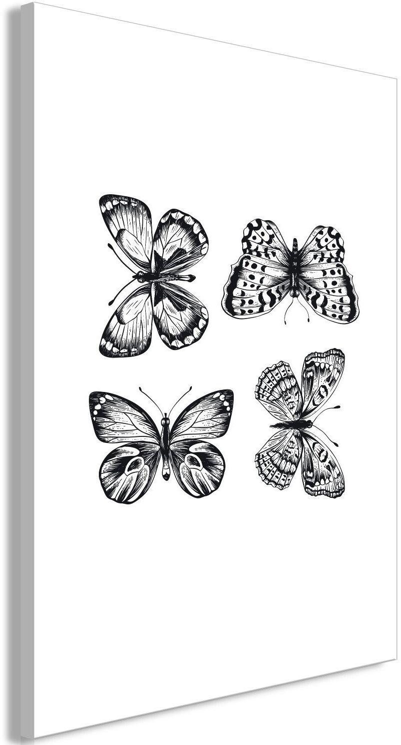 Obraz - cztery motyle (1-częściowy) pionowy