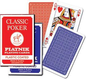 Karty do gry Piatnik 1 talia, Classic Poker ZAKŁADKA DO KSIĄŻEK GRATIS DO KAŻDEGO ZAMÓWIENIA