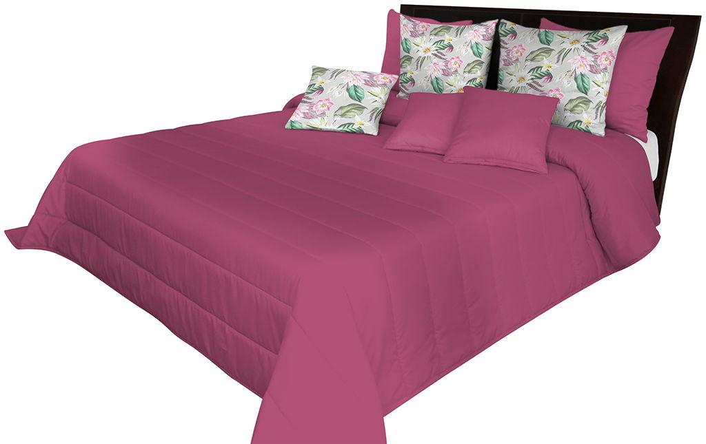 Narzuta pikowana na łóżko amarantowa NMN-004 Mariall