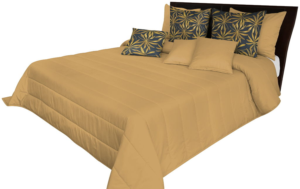 Narzuta pikowana na łóżko mosiężna NMN-005 Mariall