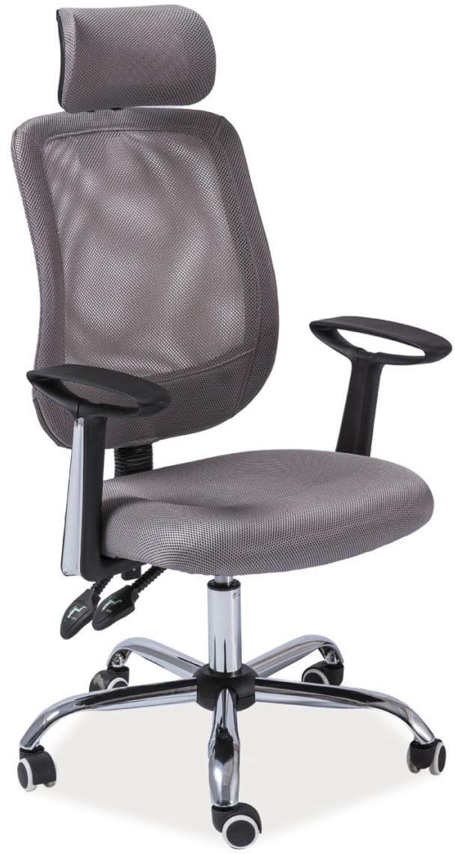 Fotel obrotowy Q-118 szary biurowy