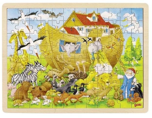 Biblijna Arka Noego, puzzle na podstawce, goki