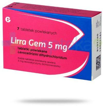 Lirra Gem 5mg 7 tabletek