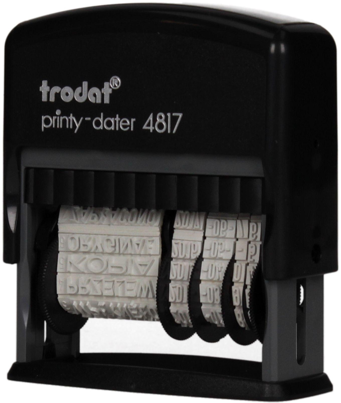 Datownik samotuszujący 3.8mm ISO + 12 haseł Trodat 4817