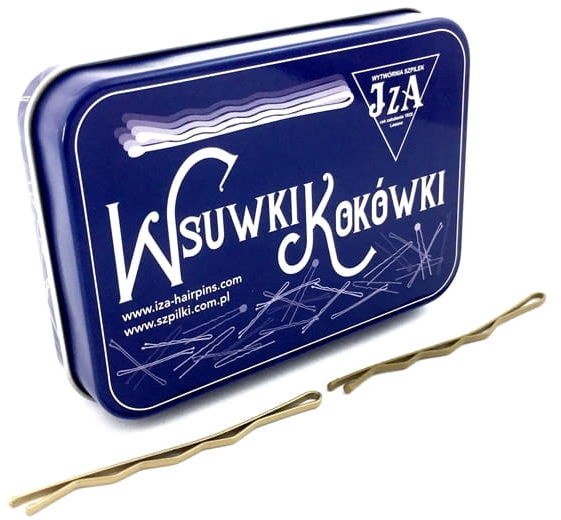 IzA Puszka wsuwki złote 70mm karbowane 40szt.