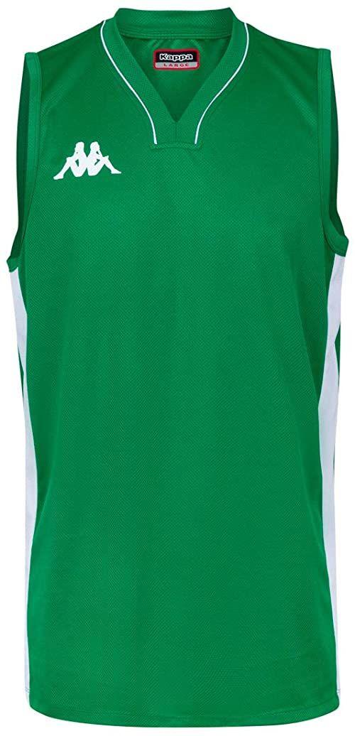 Kappa Cairo koszulka do koszykówki, męski rozmiar uniwersalny zielony 6Y / 116cm