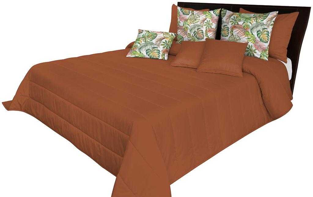 Narzuta pikowana na łóżko jasnoczekoladowa NMN-008 Mariall