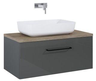 SZAFKA z umywalką FUTURIS 70x37x45,6cm 1S kolor ANTHRACITE/dąb