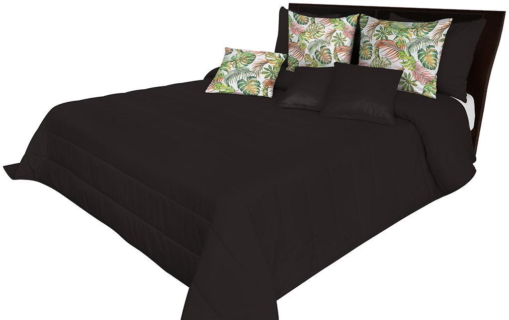 Narzuta pikowana na łóżko czarna NMN-009 Mariall