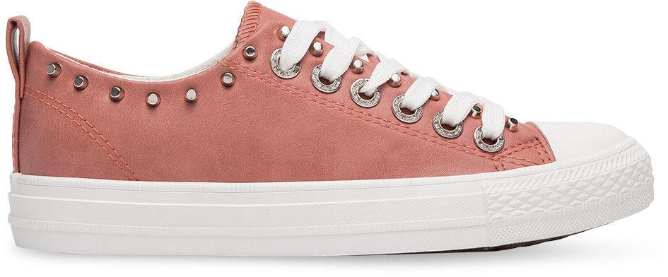 Trampki damskie Ideal Shoes SM-2738 Różowe