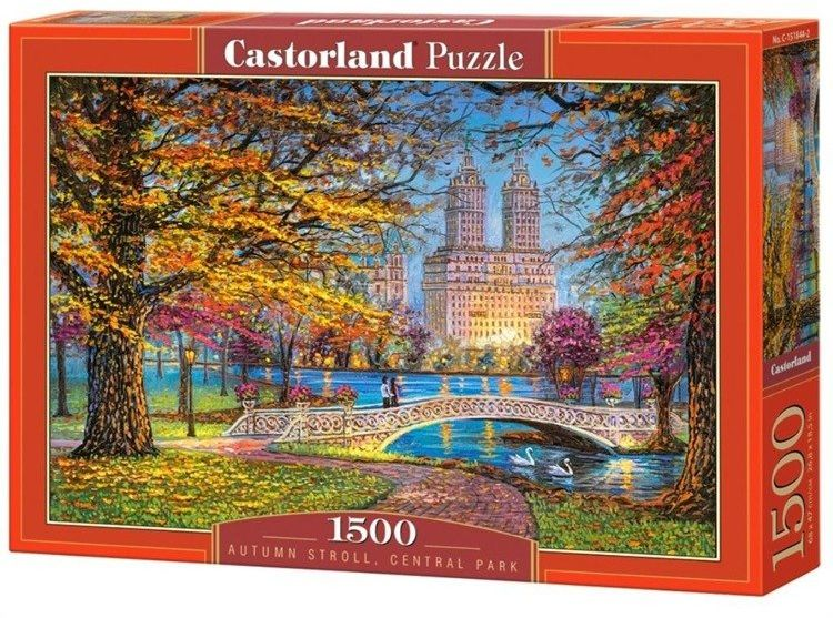 Puzzle 1500 Autumn Stroll Centtral Park CASTOR