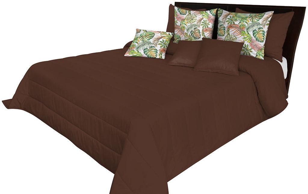 Narzuta pikowana na łóżko czekoladowa NMN-010 Mariall