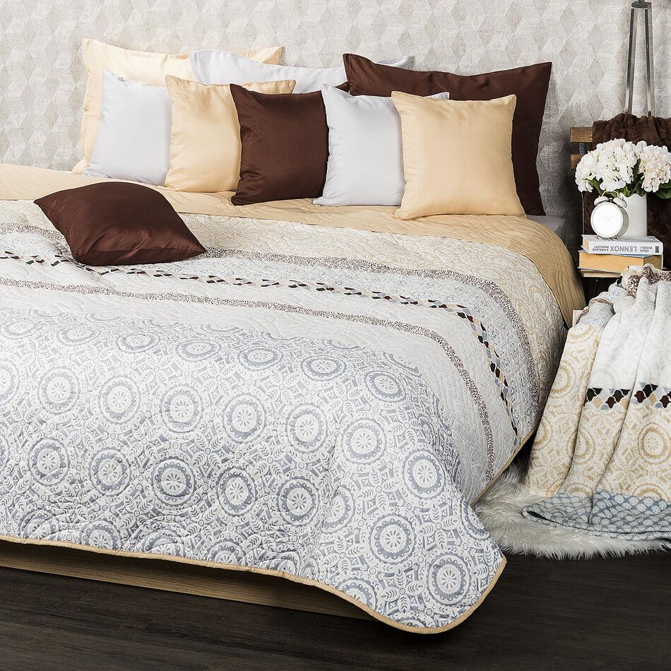 4Home Narzuta na łóżko Circles beżowy, 220 x 240 cm