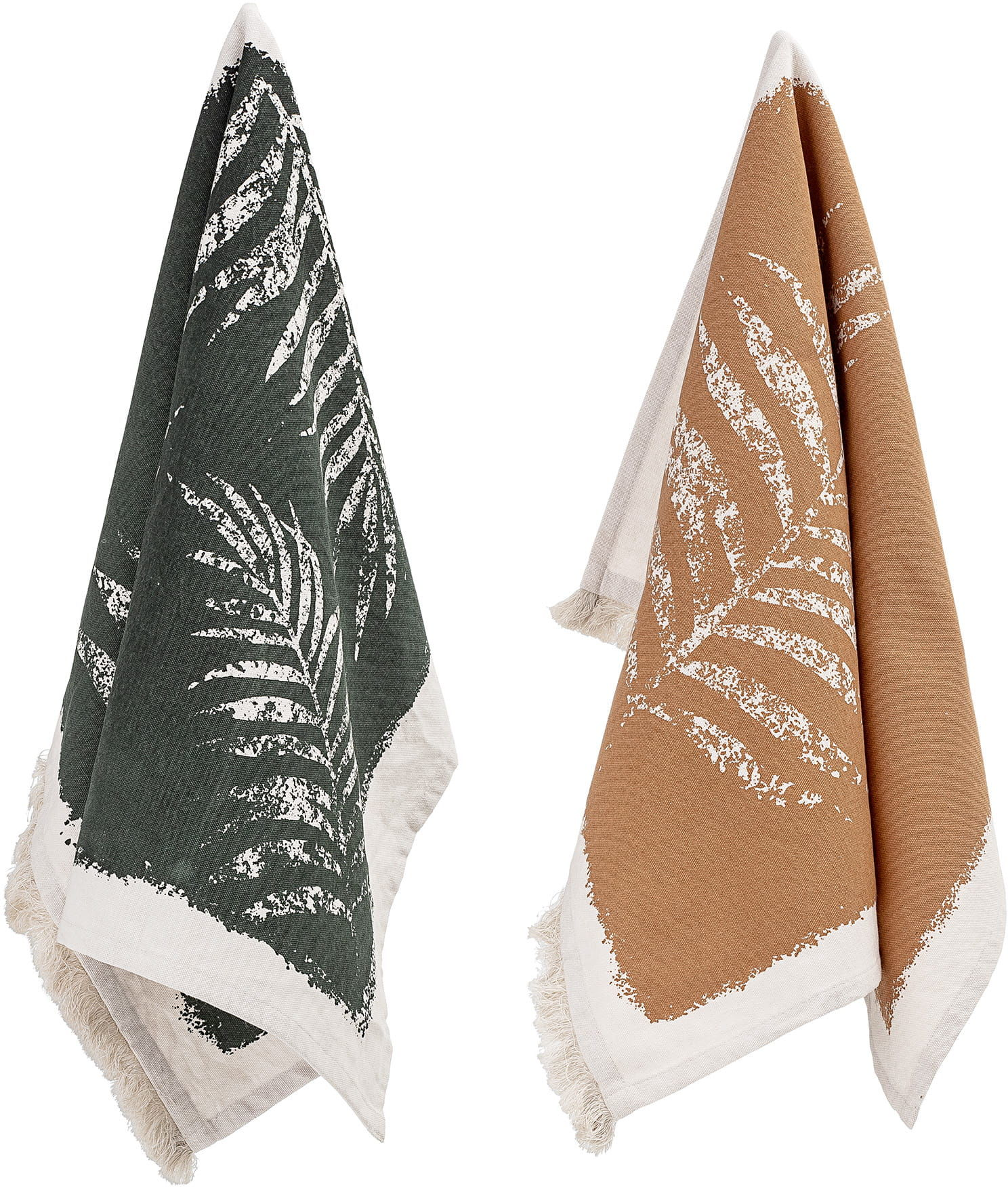 Zestaw Dwóch Ręczników Kuchennych Motyw Paproci Bloomingville
