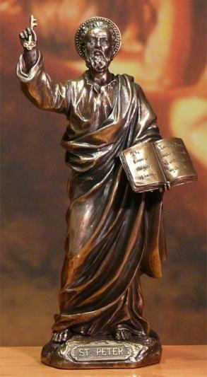 Figurka Święty Piotr ozdoba świąteczna