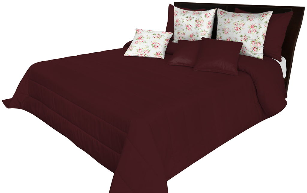 Narzuta pikowana na łóżko bordowa NMN-011 Mariall