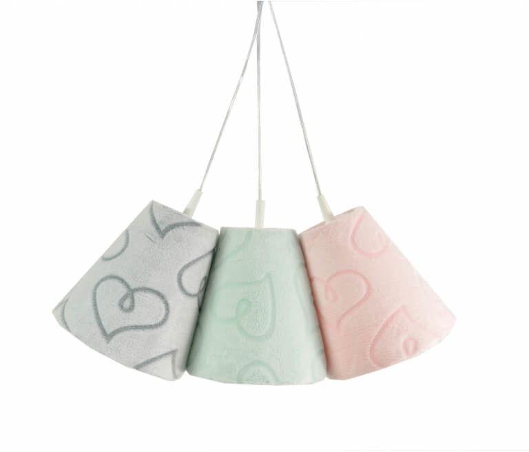 Lampa wisząca Dzwoneczki Serduszka Minky Pink&Mint