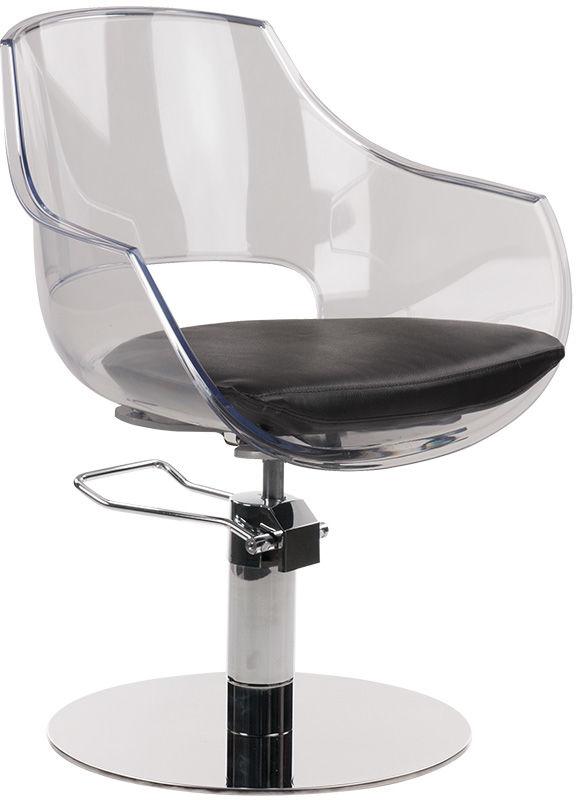 Ayala Ghost 01 fotel fryzjerski na pompie hydraulicznej z możliwością wyboru podstawy