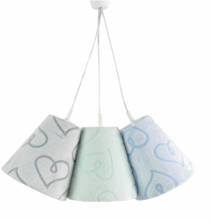 Lampa wisząca Dzwoneczki Serduszka Minky Blue&Mint