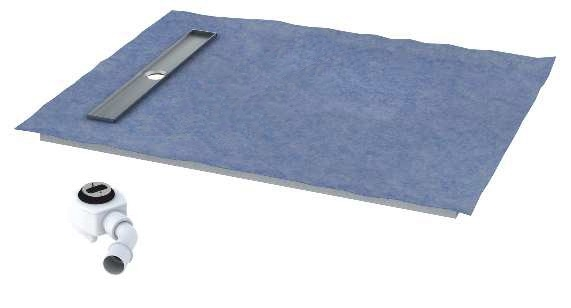 Schedpol brodzik posadzkowy podpłytkowy ruszt Stamp 140x80x5cm 10.009/OLKB/SP
