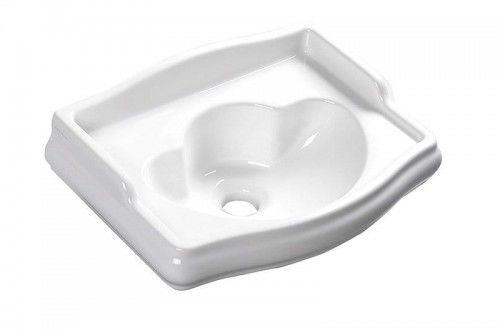 Mała umywalka ceramiczna RETRO 41x30 cm bez przelewu i bez otworu na baterię