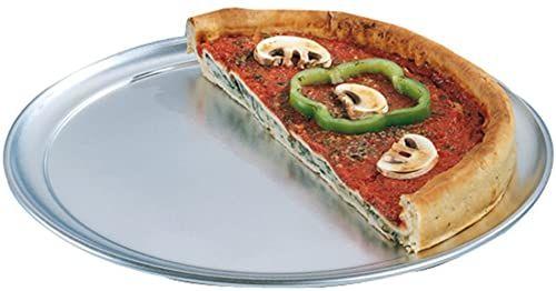 Garcia de Pou 147,87 aluminiowe płaskie talerze do pizzy, średnica 28 cm, srebrny