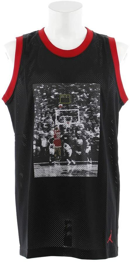 Nike JSW Last Shot Mesh Jersey, koszulka na ramiączkach, bez rozmiaru XL Nero/Gym Rosso/Gym Rosso