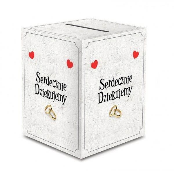 Pudełko weselne na koperty z życzeniami, prezentami 24x24x30cm KP5