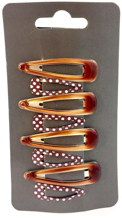 IzA 1311/8/BR Komplet brązowych spinek 8 sztuk