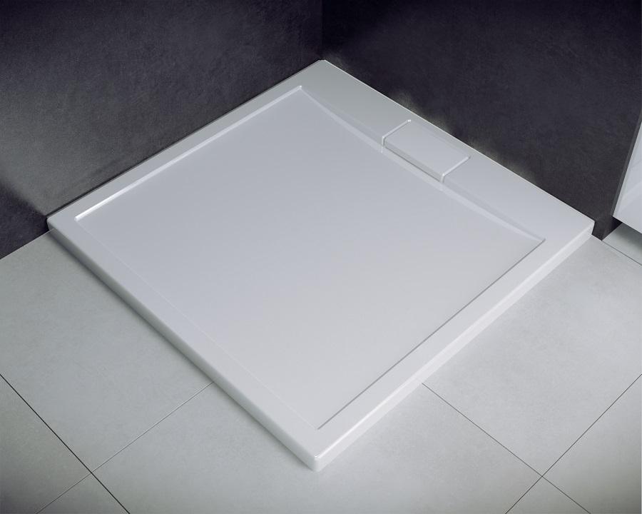 Besco Axim ultraslim 80x80cm brodzik kwadratowy biały BAX-80-KW
