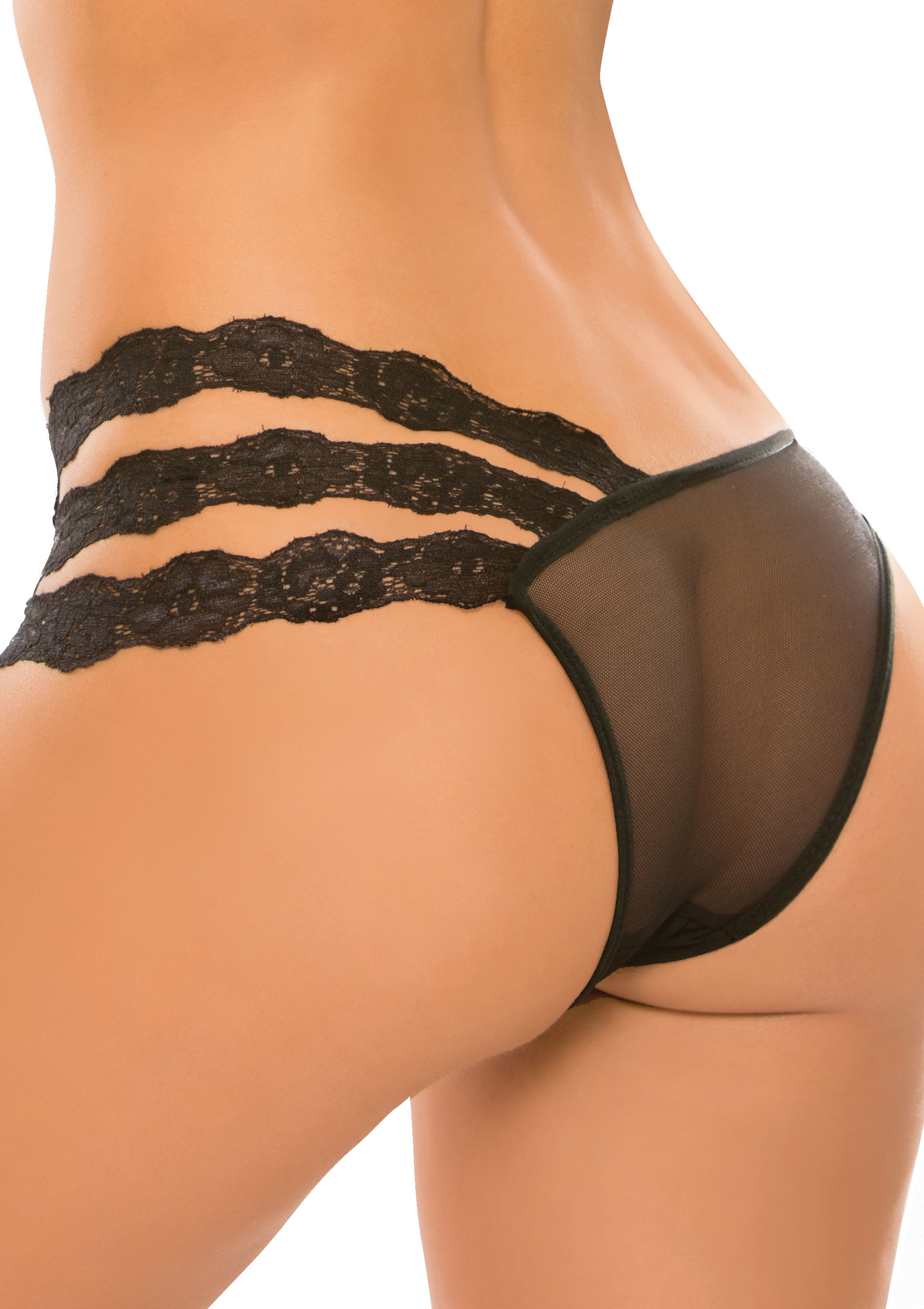 Allure Wild Orchid Panty Black