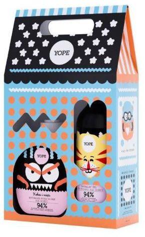 Yope mydło do rąk dla dzieci Kokos i Mięta 400 ml + żel pod prysznic dla dzieci Żurawina i Lawenda 400 ml [ZESTAW]