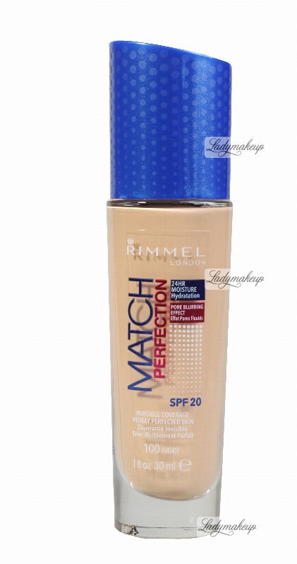 RIMMEL - MATCH PERFECTION FOUNDATION - Kryjący pokład do twarzy - 30 ml - 100 - IVORY
