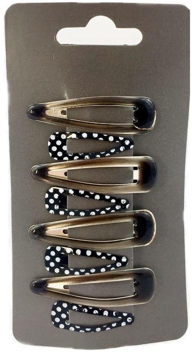 IzA 1311/8/B Komplet czarnych spinek 8 sztuk