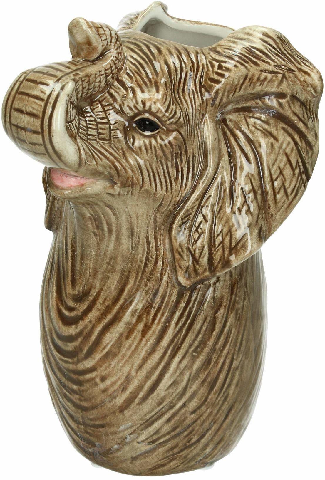 Wazon Elephant - drobny kamionka - szary - 13x12x22 cm