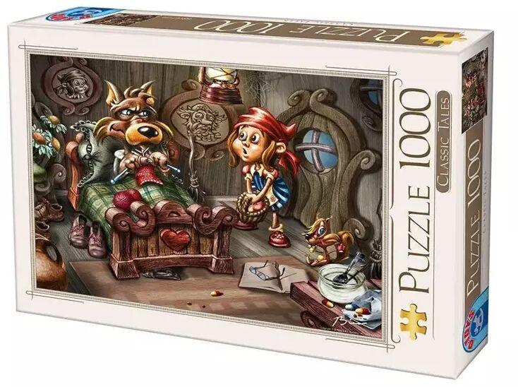 Puzzle 1000 Biro Donat, Czerwony kapturek - D-Toys