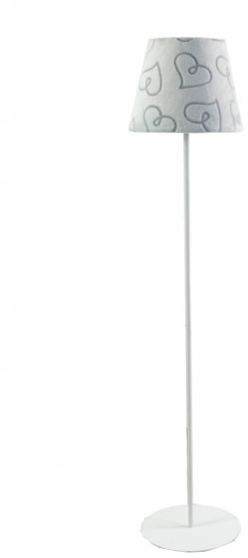 Lampa podłogowa Serduszka Minky Gray