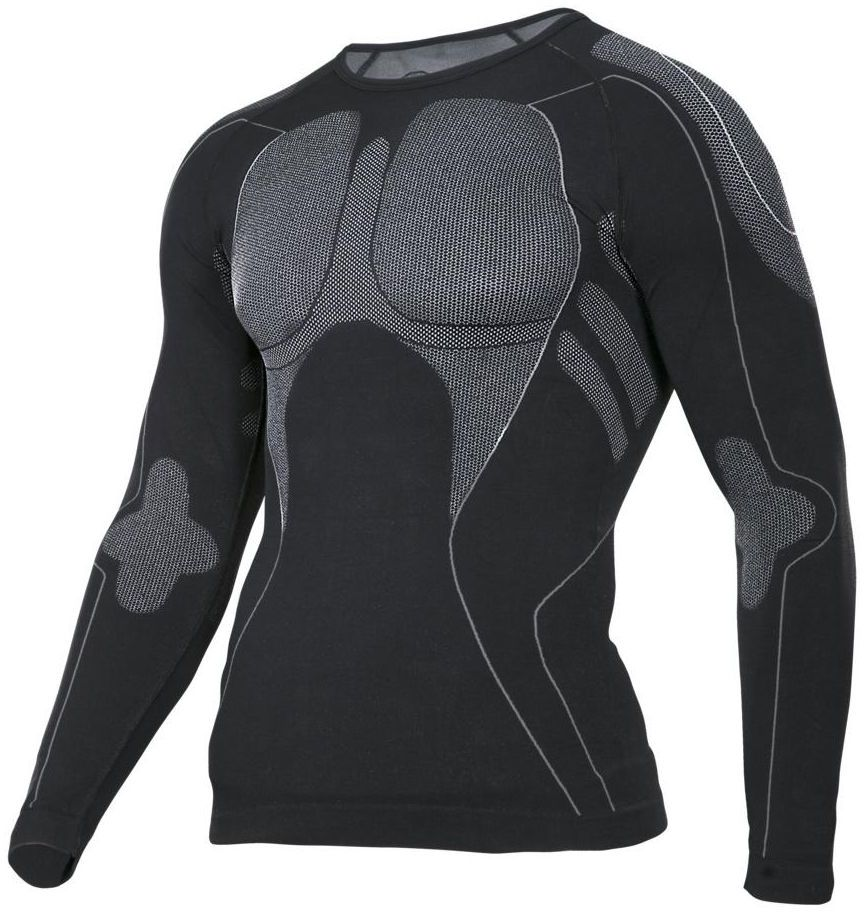 Koszulka termoaktywna S/M czarno-szara LAHTI PRO L4120101 długi rękaw